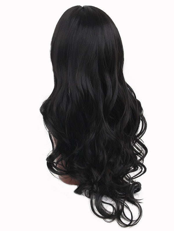 Center Parting Long Wavy Heat Resistant Synthetic Fiber Wig