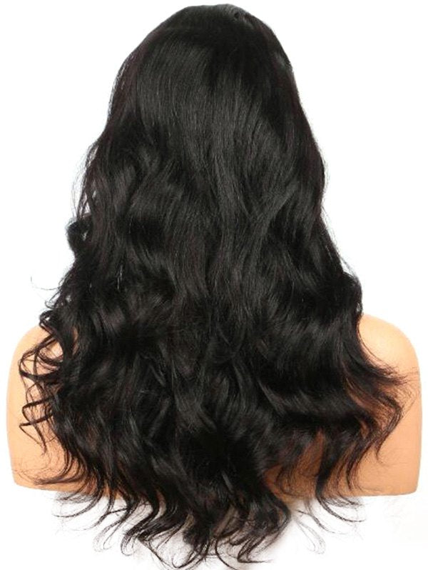 Side Parting Long Wavy Lace Front Synthetic Wig