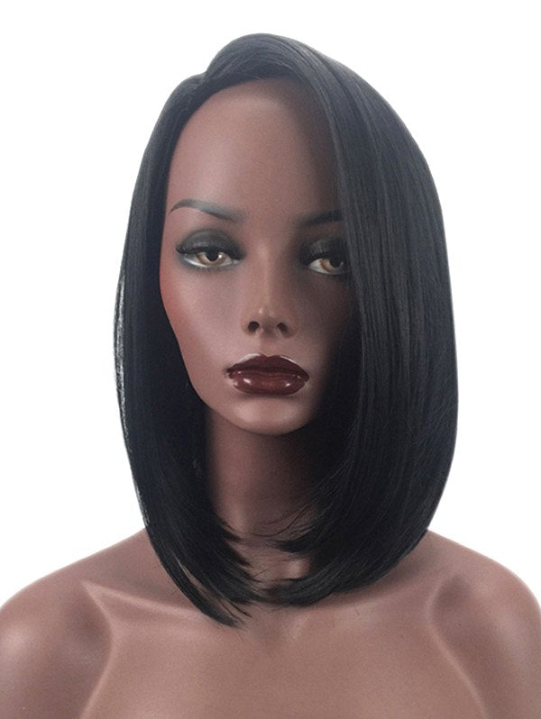 Short Side Parting Straight Bob Heat Resistant Synthetic Wig