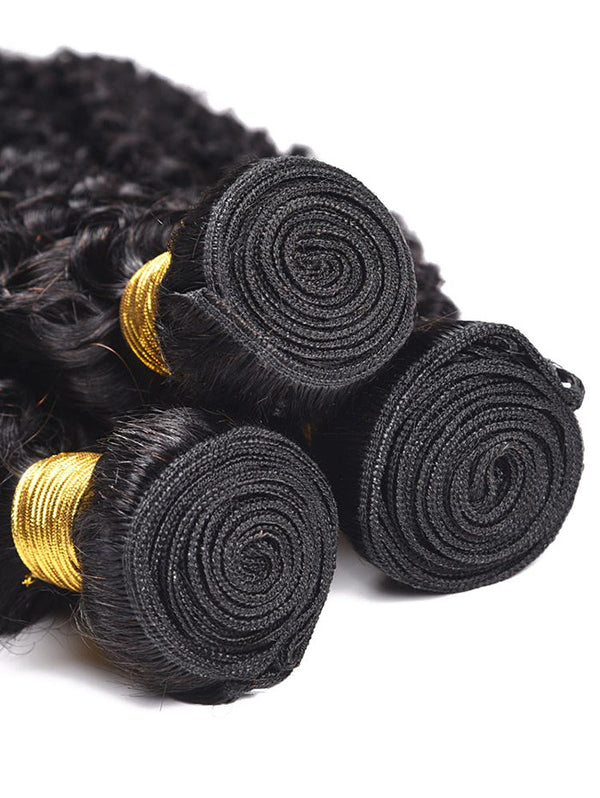 3Pcs Human Hair Kinky Curly Hair Wefts