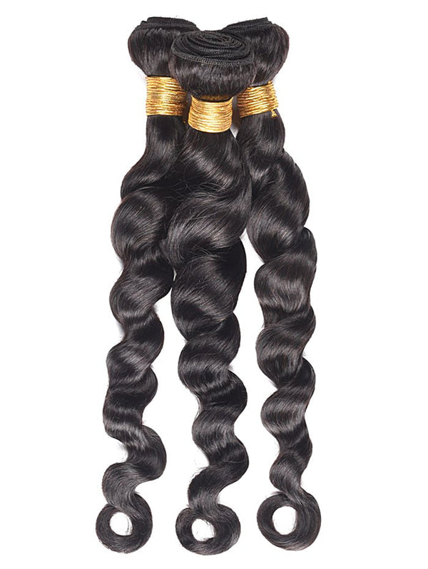 3Pcs Loose Wave Human Hair Wefts