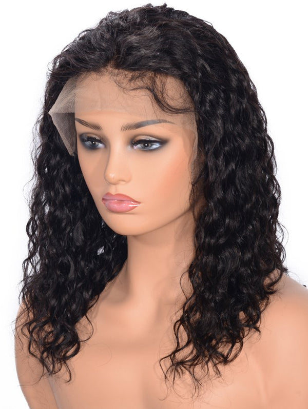 Free Part Curly Human Hair Lace Front Wig
