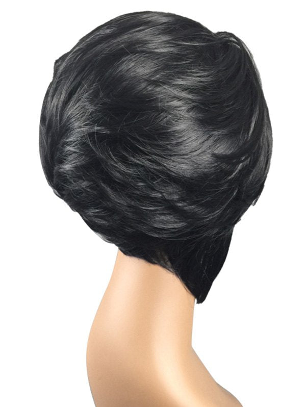 Short Side Bang Layerer Straight Synthetic Wig