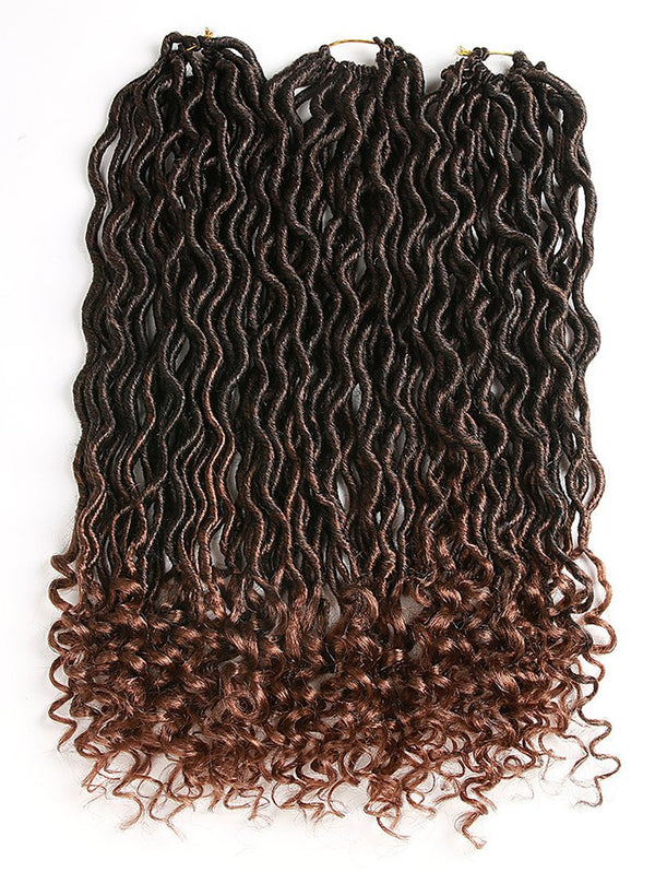 Gradient Curly Crochet Braids Dreadlock Hair Extensions
