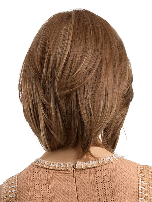 Inclined Bang Short Straight Capless Synthetic Wig
