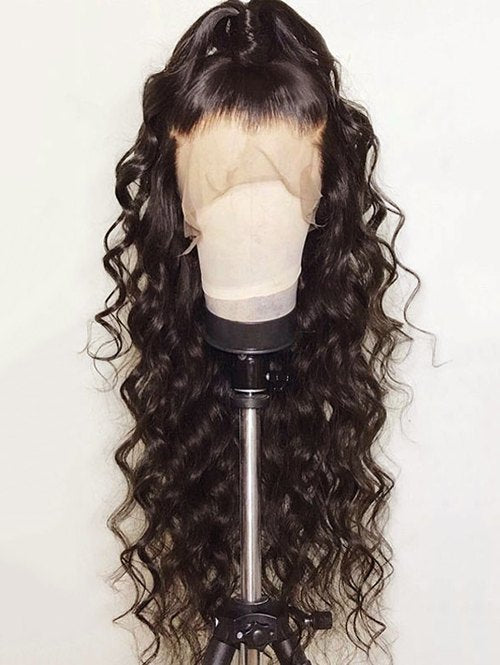 Free Part Long Loose Wave Synthetic Lace Front Wig