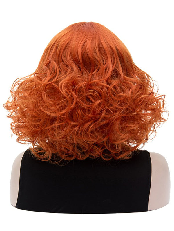Medium Side Bang Curly Party Synthetic Wig