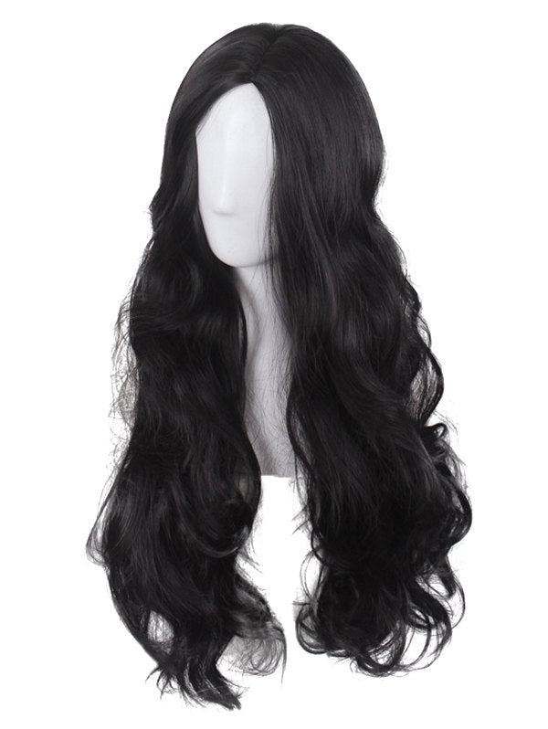 Long Side Parting Wavy Cosplay Synthetic Wig