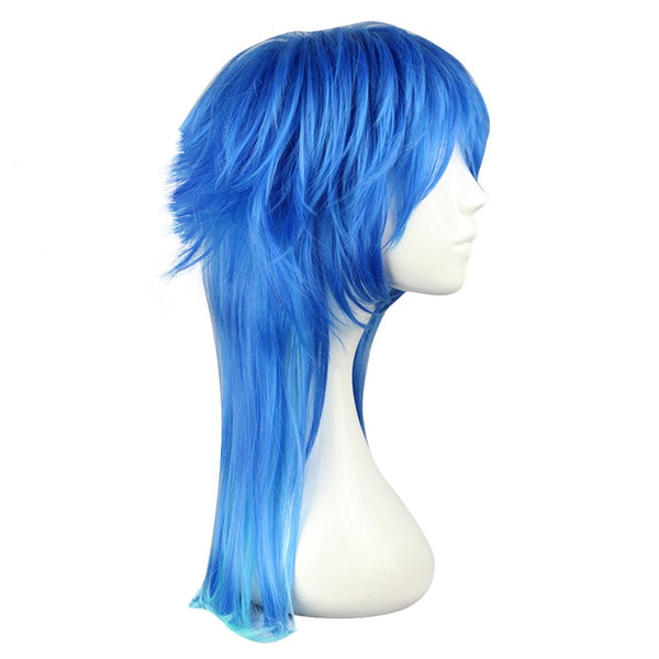Harajuku Long Straight Gradient Mixed Colors Wigs Cosplay Party for Dramatical Murder Seragaki Aoba