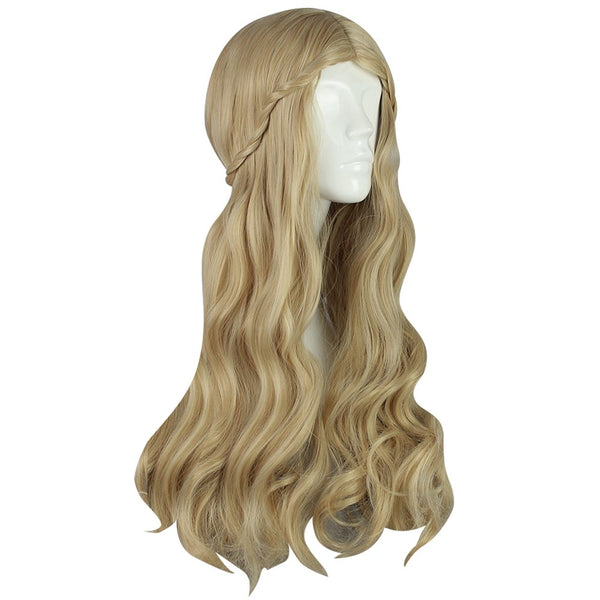 Textured Long Wavy Flaxen Wigs Cosplay for Princess Figure