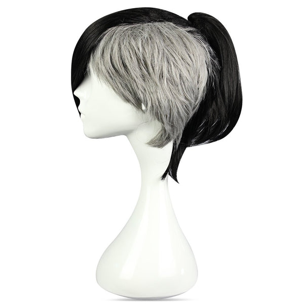 Short Black Gray Wigs Side Bangs Cosplay for Tokyo Ghoul Uta Figure