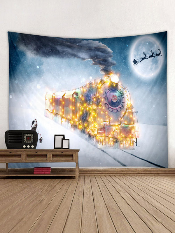 Christmas Train Print Tapestry Wall Hanging Decoration