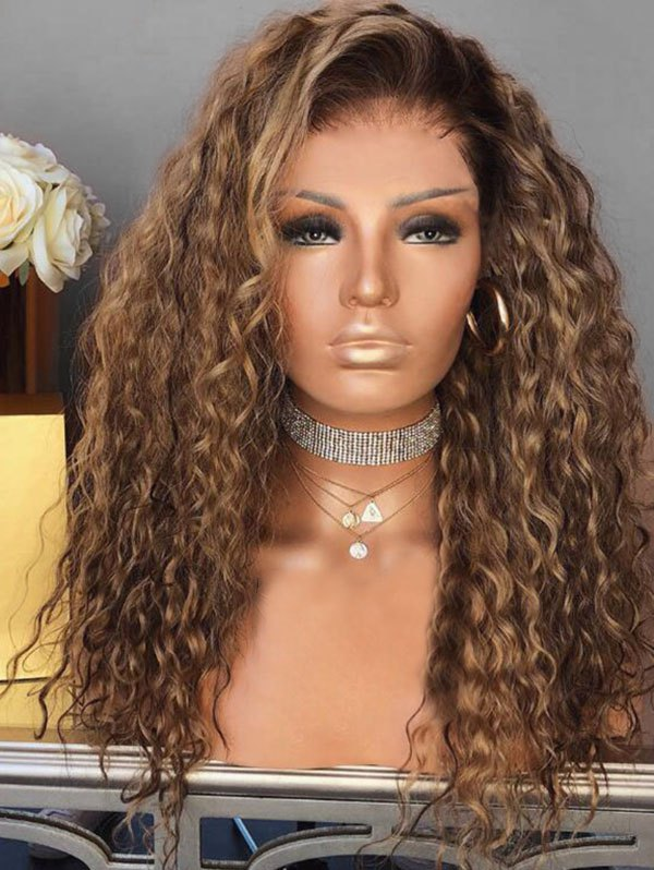 Side Bang Colormix Short Curly Party Synthetic Wig