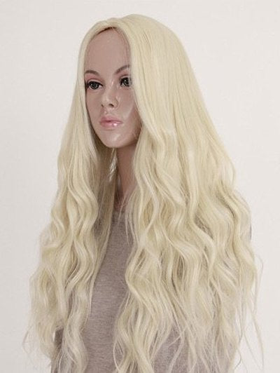 Long Middle Part Natural Wavy Cosplay Party Synthetic Wig
