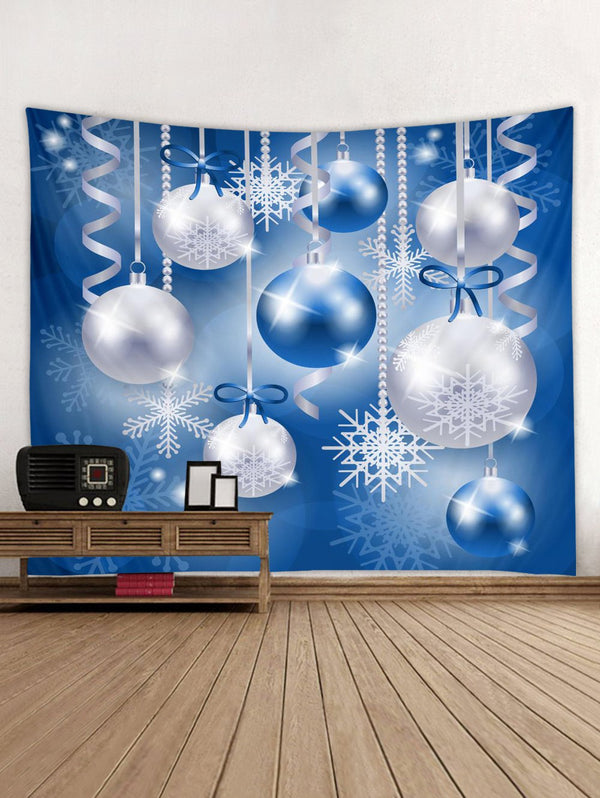 Christmas Snowflake Ball Printed Wall Tapestry Art Decoration