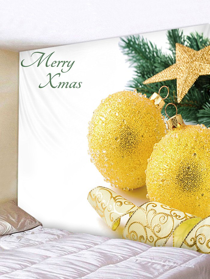 Merry Xmas Printed Tapestry Art Decoration