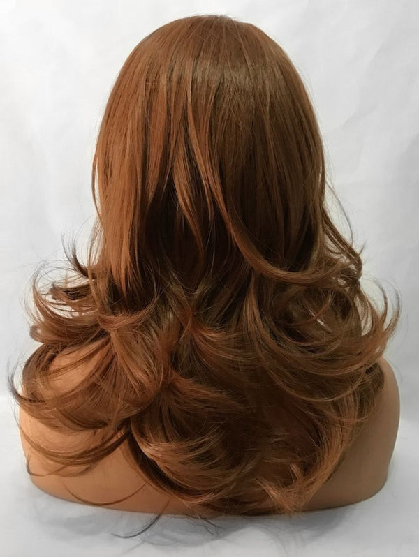 Free Part Long Slightly Curly Synthetic Lace Front Wig