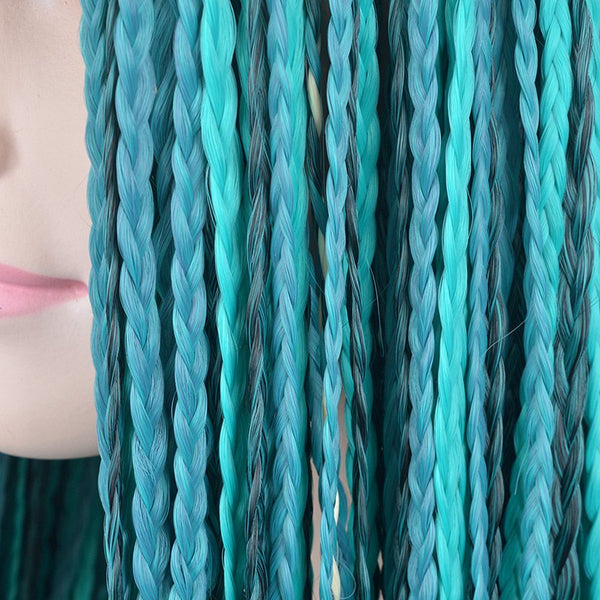 Long Middle Part Braided Synthetic Descendants 2 Uma Cosplay Wig