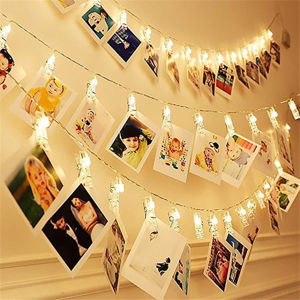 Ablest Set of 40 LED Photo Clip Clothespin Fairy String Lights Warm White