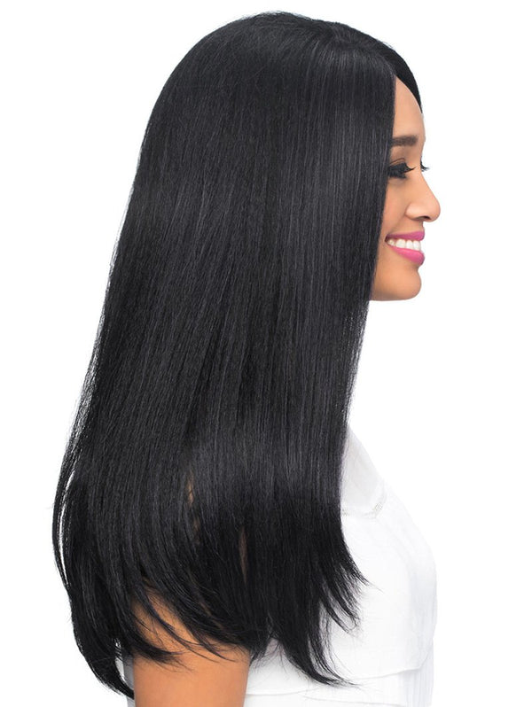 Center Part Long Straight Synthetic Fiber Wig
