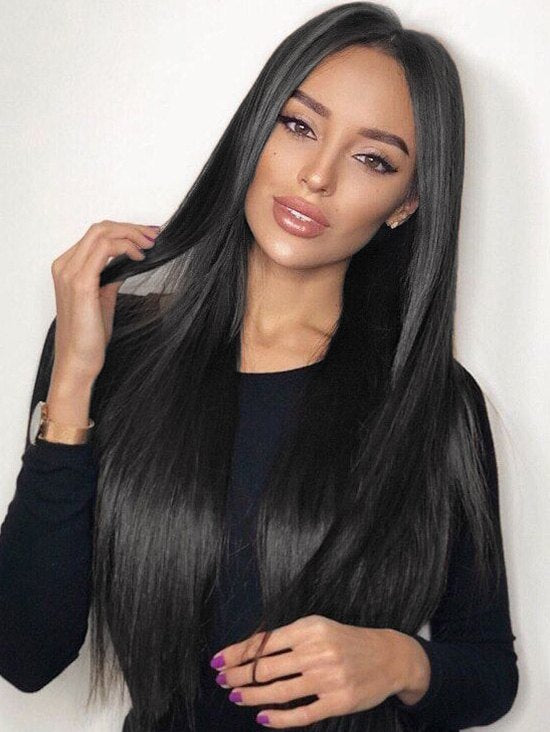 Middle Part Straight Long Capless Synthetic Wig