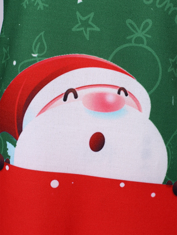 Christmas Plus Size Santa Claus Print T-shirt