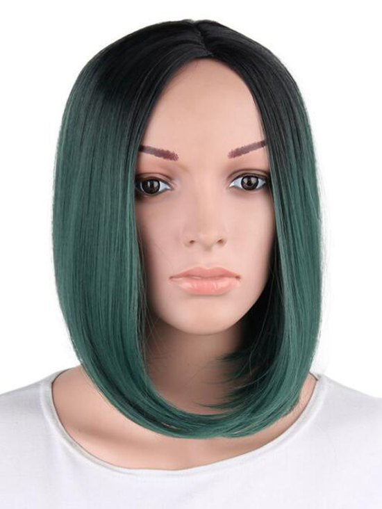Short Ombre Straight Bob Party Capless Synthetic Wig