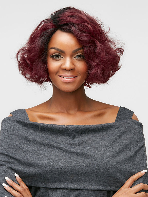 Side Parting Short Wavy Party Synthetic Wig