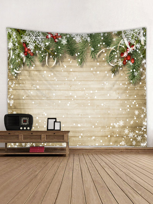 Christmas Snowflake Wooden Tapestry Art Decoration
