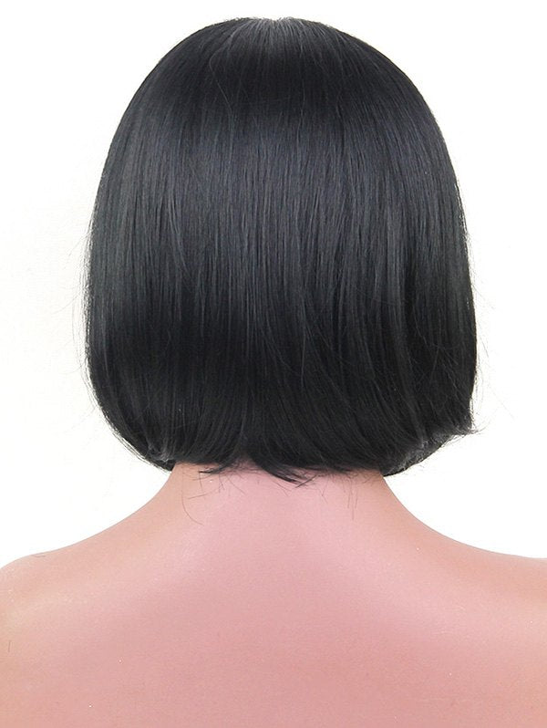 Full Bang Short Straight Tail Adduction Bob Synthetic Wig
