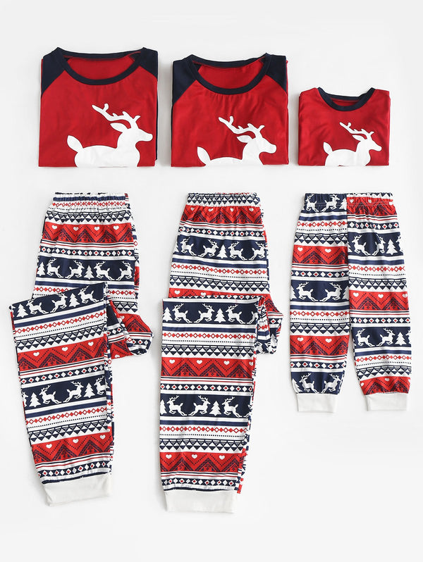 Christmas Patterned Matching Family Pajamas