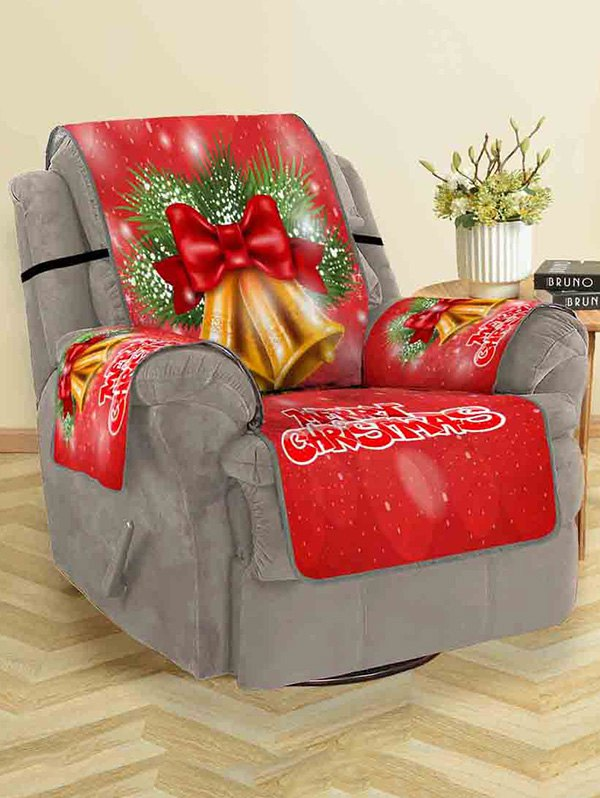Christmas Bells Pattern Couch Cover