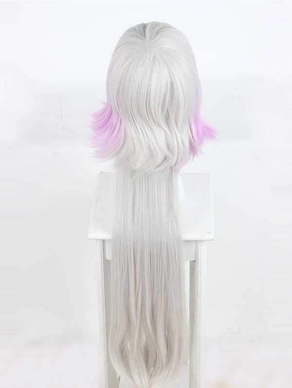 Women's Long Colorful Highlights Cosplay Wig Custom Party Wigs