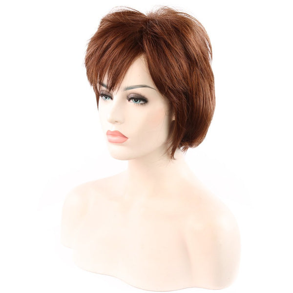 Fashion and Nature Women with Short Hair Fluffy High Temperature Wig