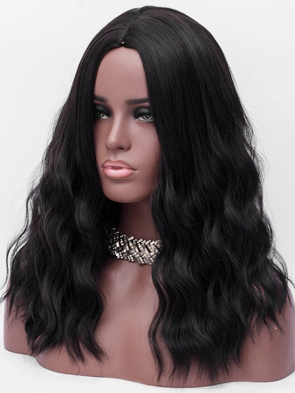 Center Parting Long Corn Hot Wavy Synthetic Wig