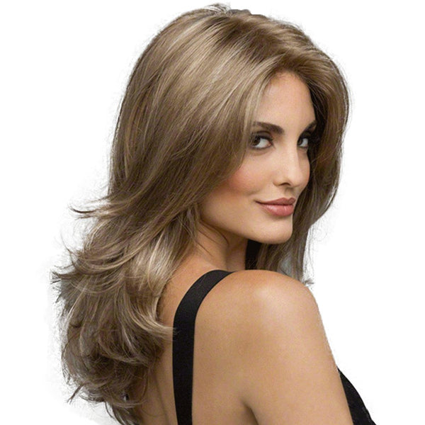 Stylish Sexy Lady Halve Long Curly Hair High Temperature Synthetic Wig