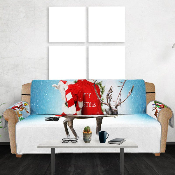 3D Digital Printed Christmas Series Santa Claus Elk Pattern Sofa Cushion