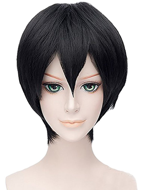 Short Cosplay Side Bang Straight Synthetic Wig