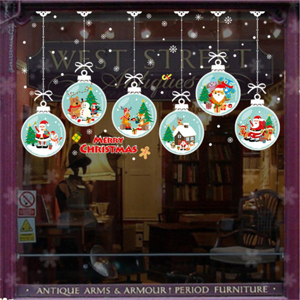 Christmas Window Wall Sticker Mural Home Decor Wall Stickers Decal For Bed Room