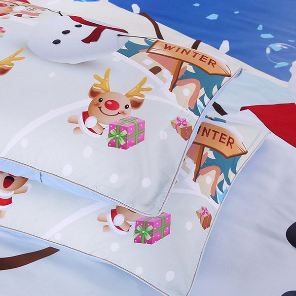 Christmas Series Quilt Home Textile Kit Bedding Three-piece Fashion Cool Pattern Couple Set