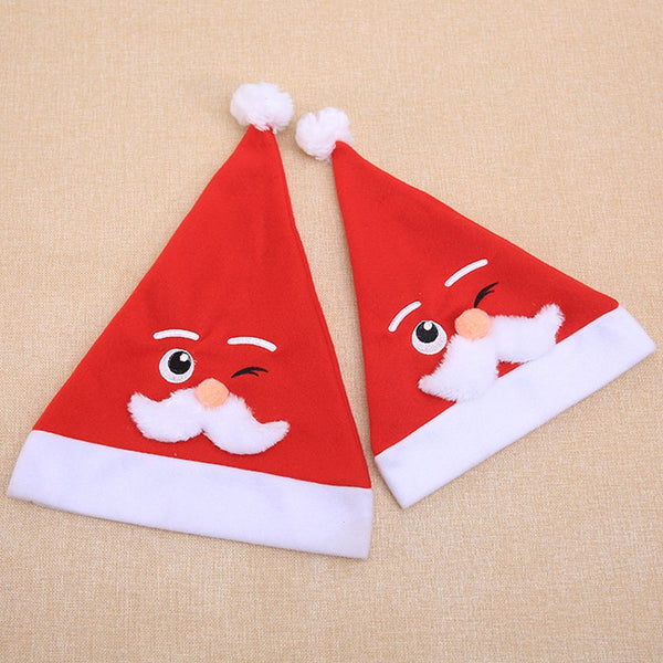 Christmas Hat White Beard Santa Cartoon Hat for Adult and Child