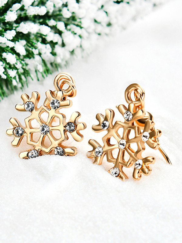 Christmas Hollow Out Snow Design Earrings