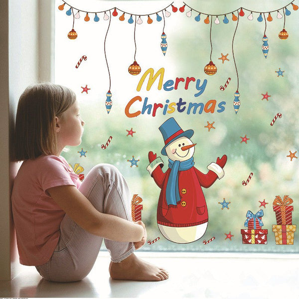 Christmas Gift Snowman Wall Sticker