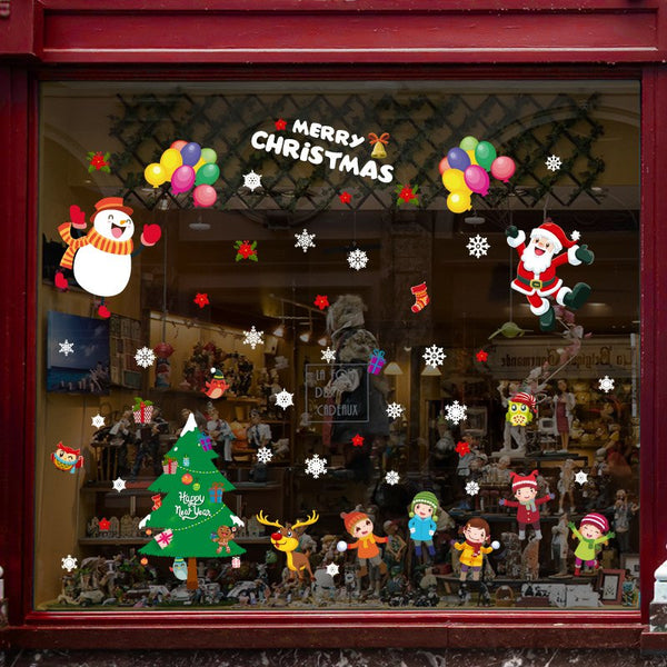 Christmas Window Creative Glass Stickers