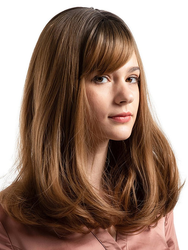 Medium Side Bang Colormix Straight Party Synthetic Wig