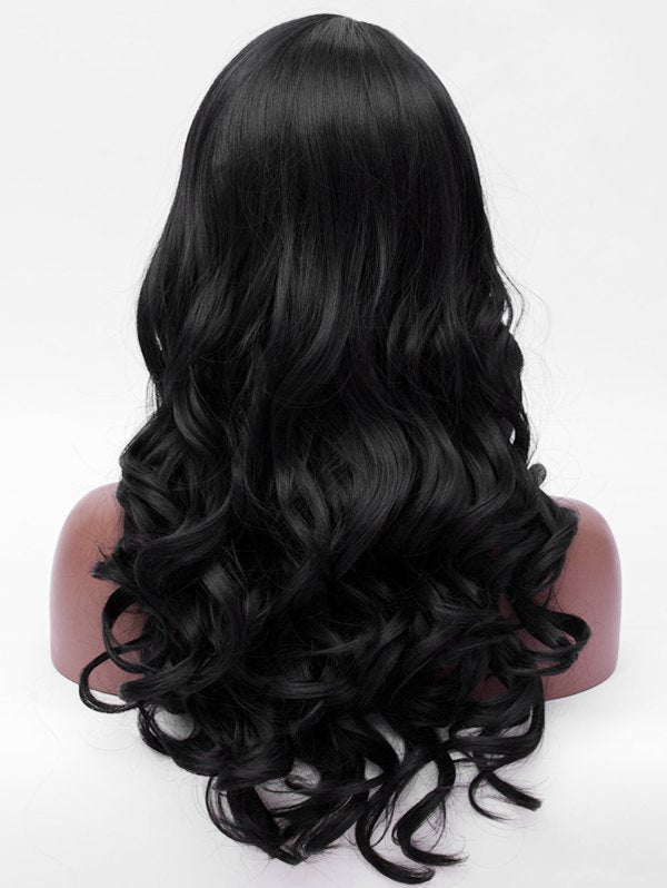 Side Parting Synthetic Long Wavy Wig