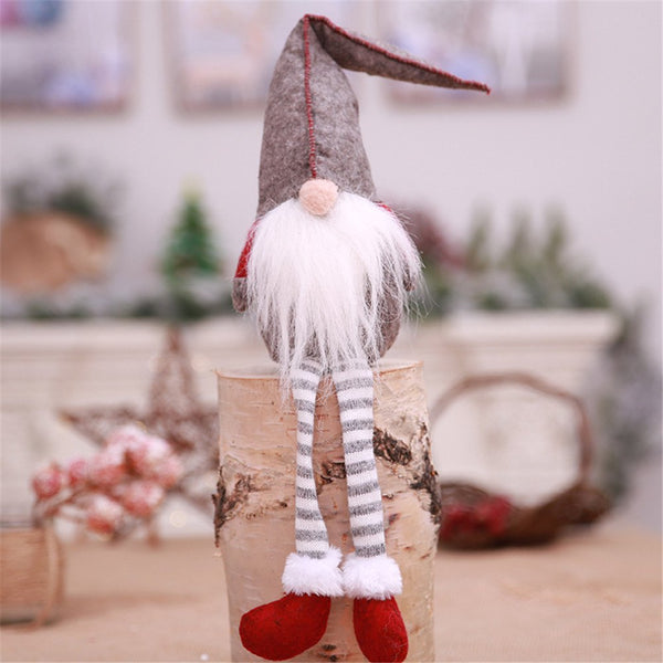 Christmas Decoration Cute Sitting Long-Legged Gnome Elf Christmas Ornaments Gift