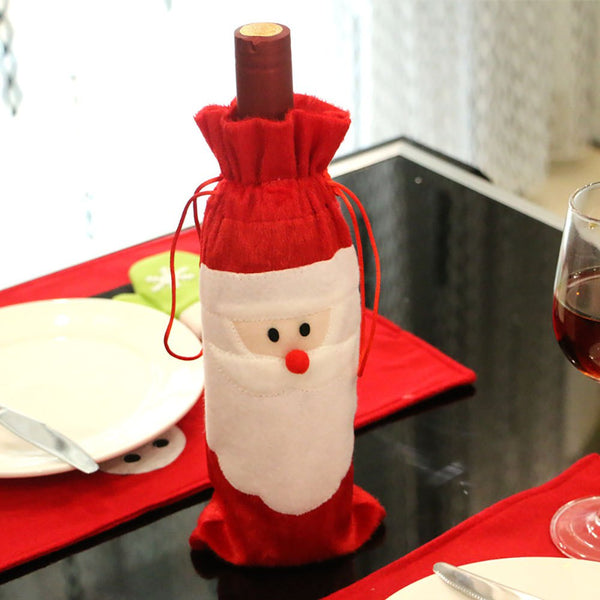 Santa Claus red wine bottle case