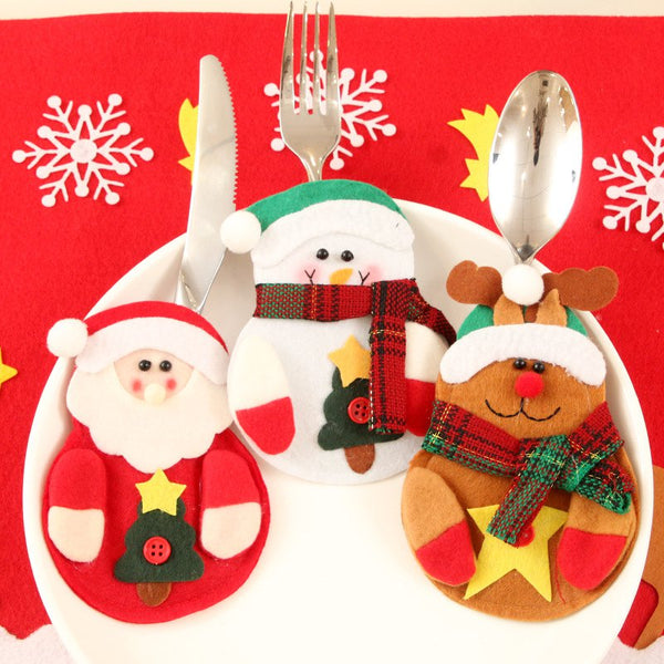Santa Claus Table Set for Christmas