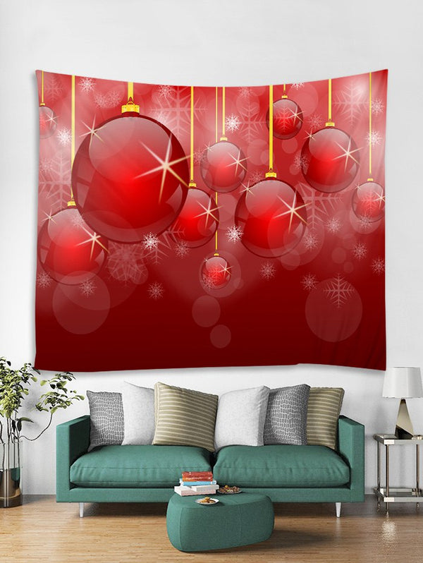 Snowflake Christmas Ball Pattern Tapestry Art Decoration